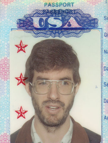Picture of Will Naylor scanned from passport.